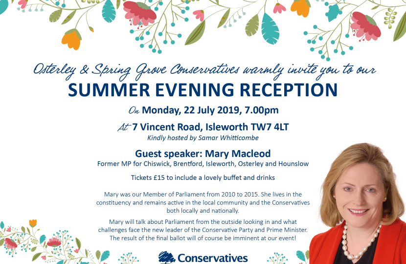 Osterley and Spring Grove Summer Reception